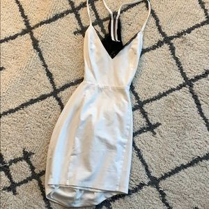 Lulus white backless dress